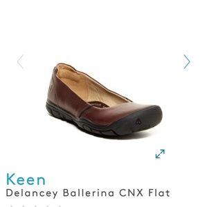 Keen Delancey Ballerina Flat, Brown leather, 38/8